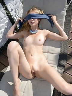You tell blindfolded nude woman theme simply